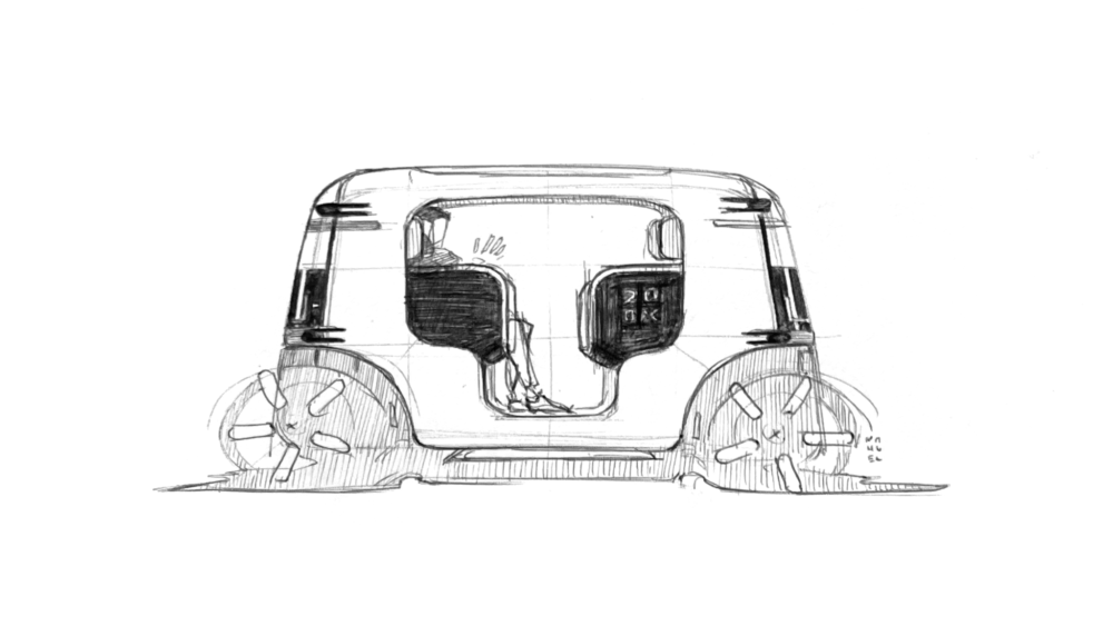 Many came before, however, this sketch was 'the sketch' that unlocked our vehicle's industrial design.